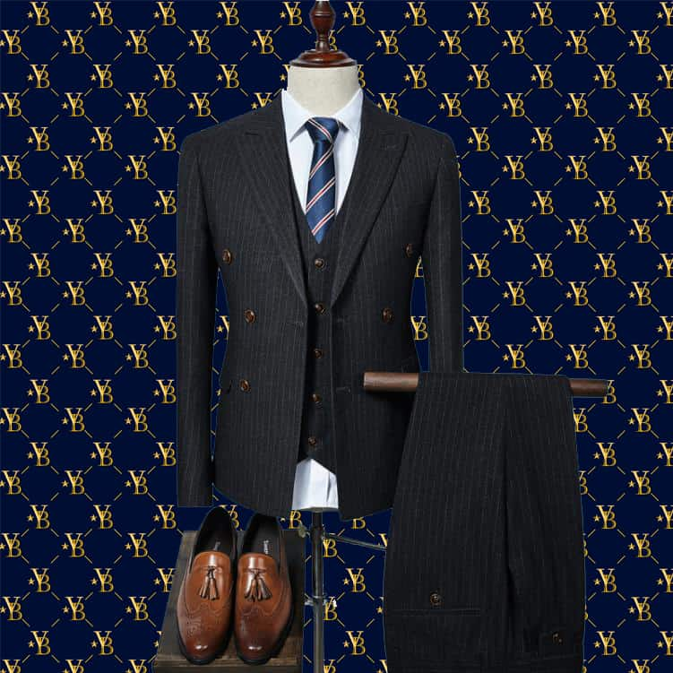 tailored suit double breastewd